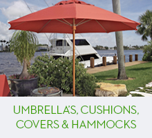 Umbrella's, Cushions, Covers & Hammocks