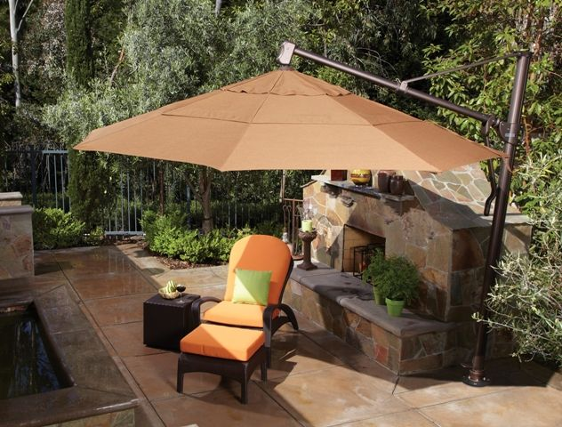 Cantilever umbrella options are very versatile