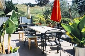 cantilever umbrella and patio set