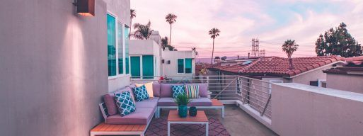 A rooftop balcony showcasing how versatile small patio designs can be.